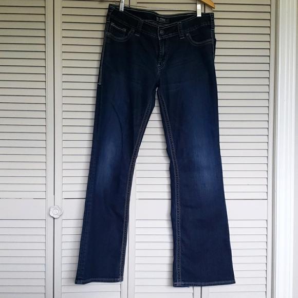 Silver Suki Surplus Bootcut Jeans, Blue, W34/L34